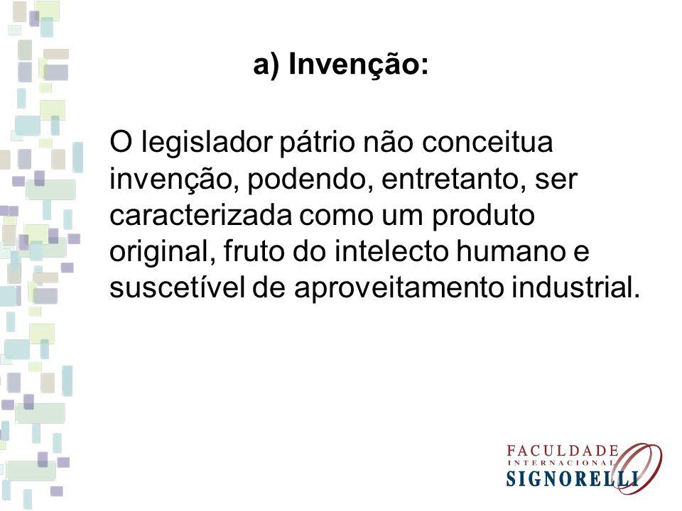 a) Invenção: