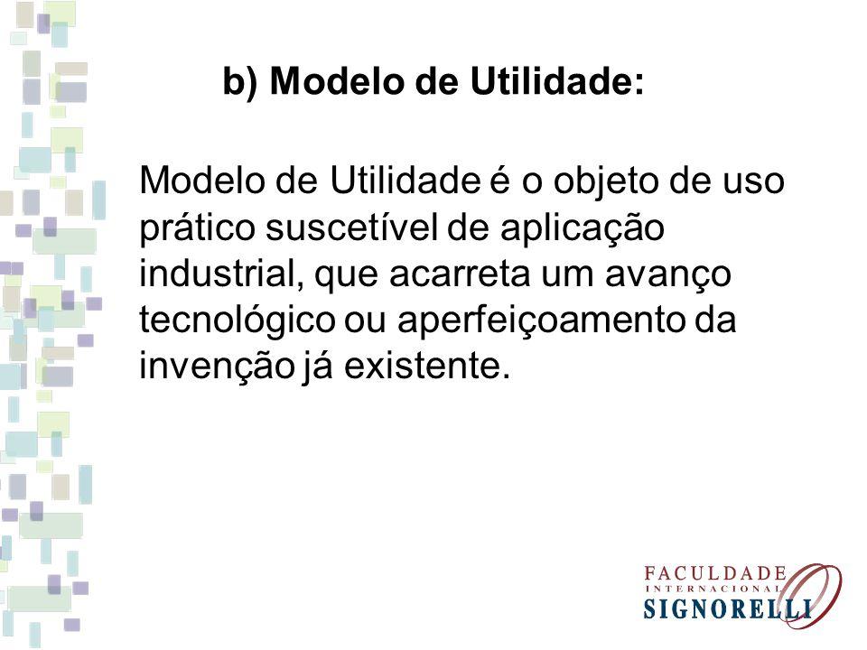 b) Modelo de Utilidade:
