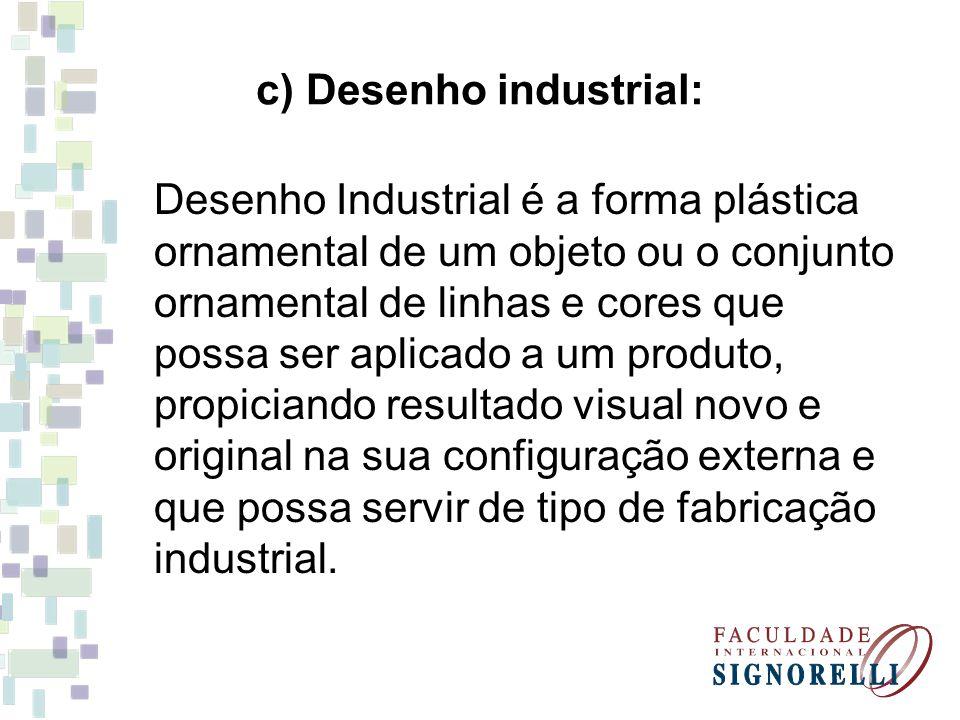 c) Desenho industrial:
