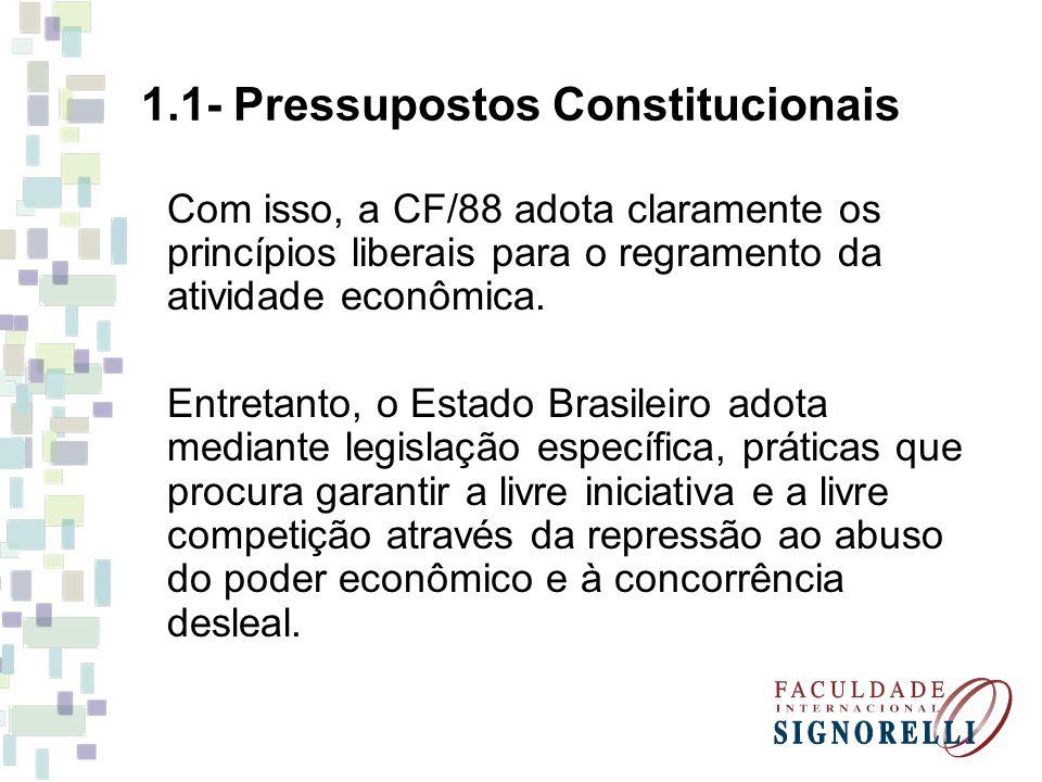1.1- Pressupostos Constitucionais