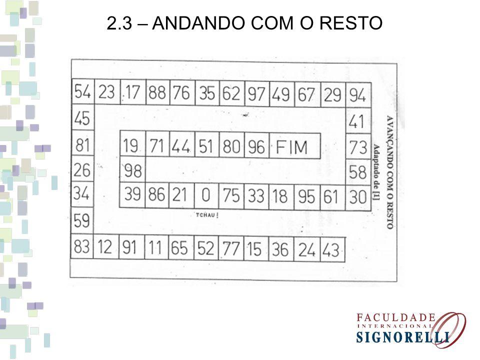2.3 – ANDANDO COM O RESTO