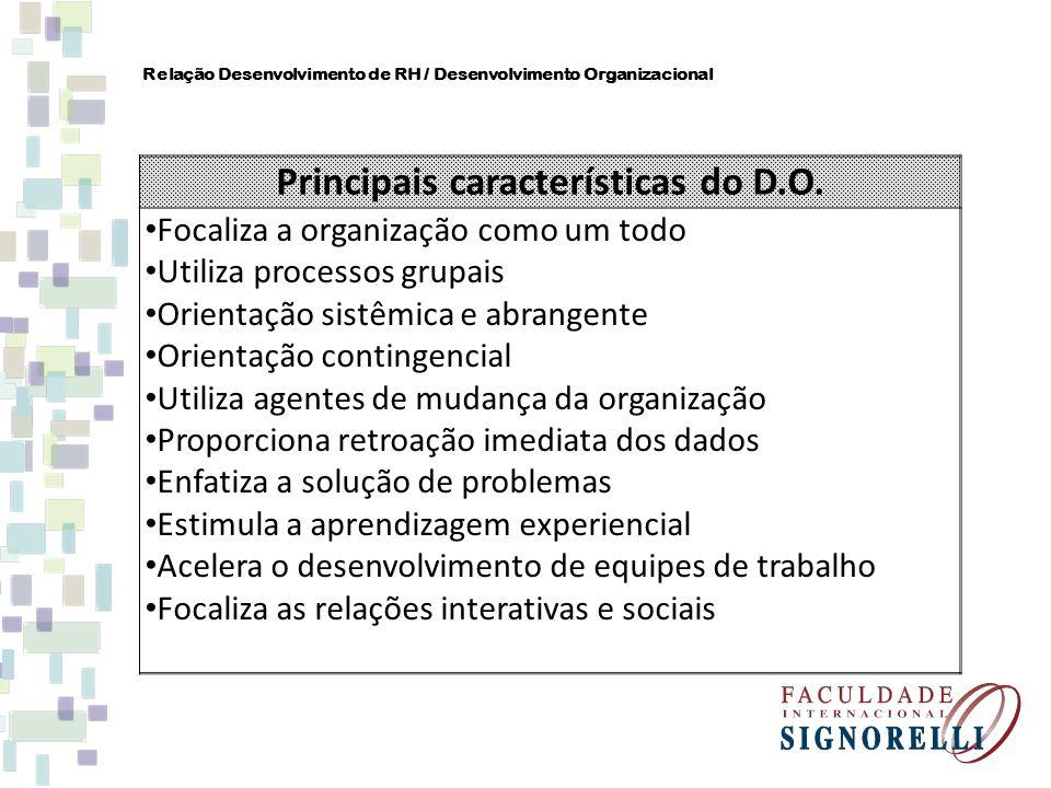 Principais características do D.O.