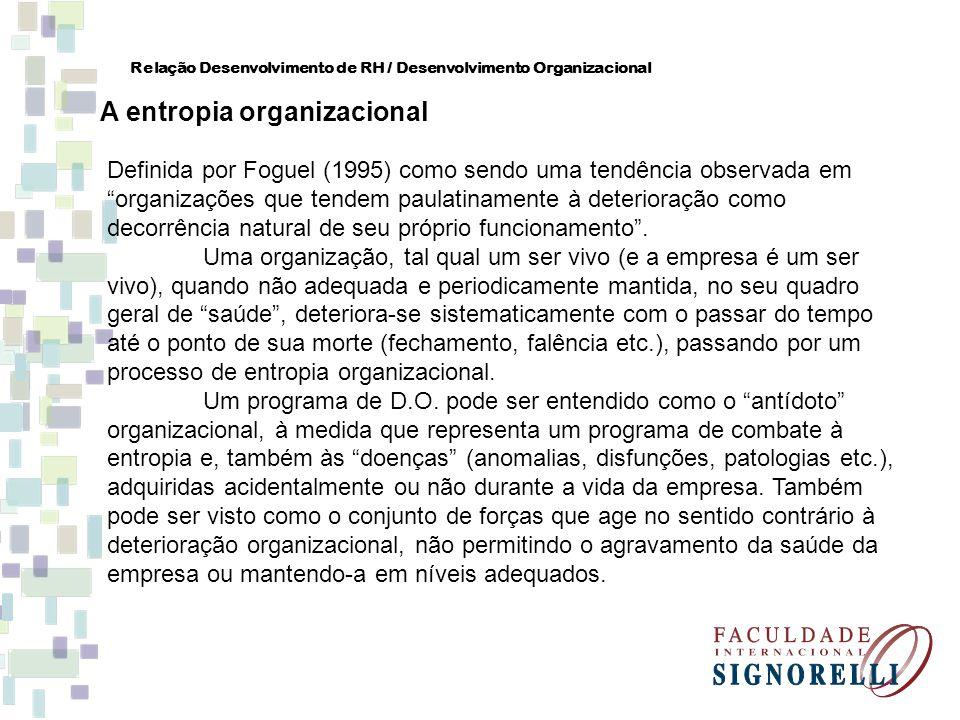 A entropia organizacional
