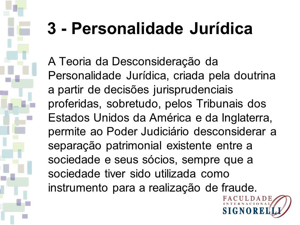 3 - Personalidade Jurídica