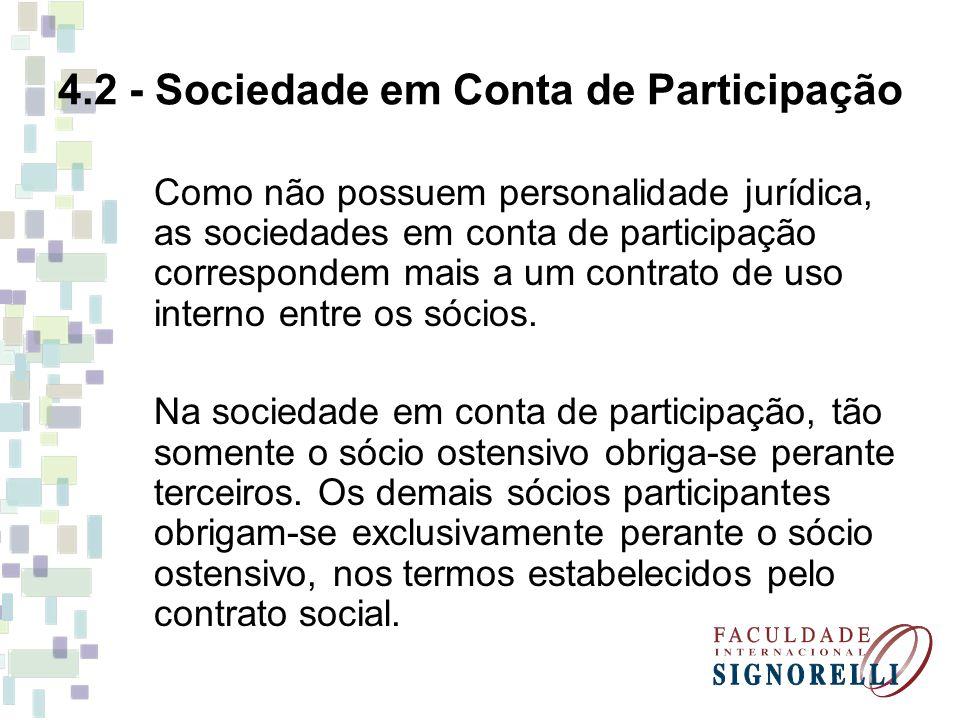 4.2 - Sociedade em Conta de Participação