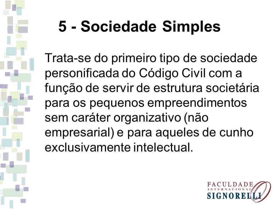 5 - Sociedade Simples