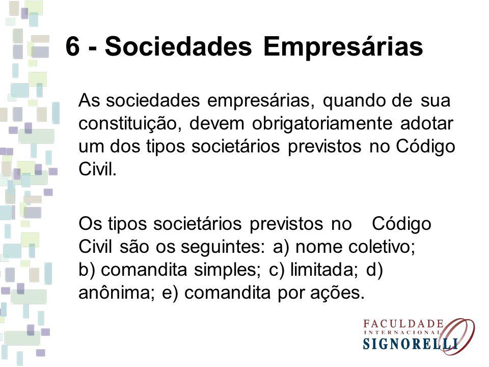 6 - Sociedades Empresárias