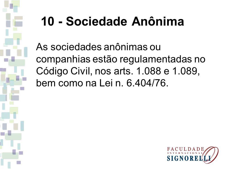 10 - Sociedade Anônima