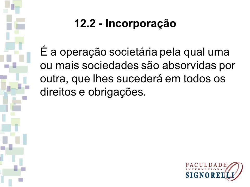 12.2 - Incorporação