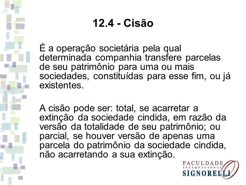12.4 - Cisão