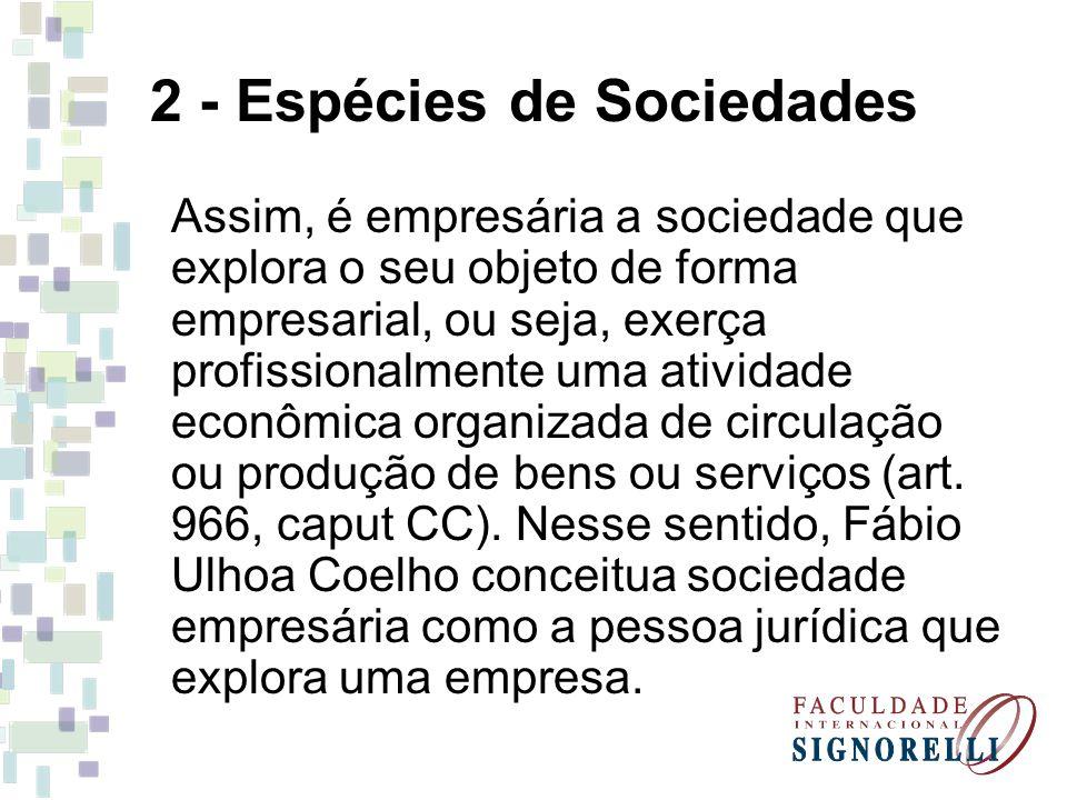2 - Espécies de Sociedades