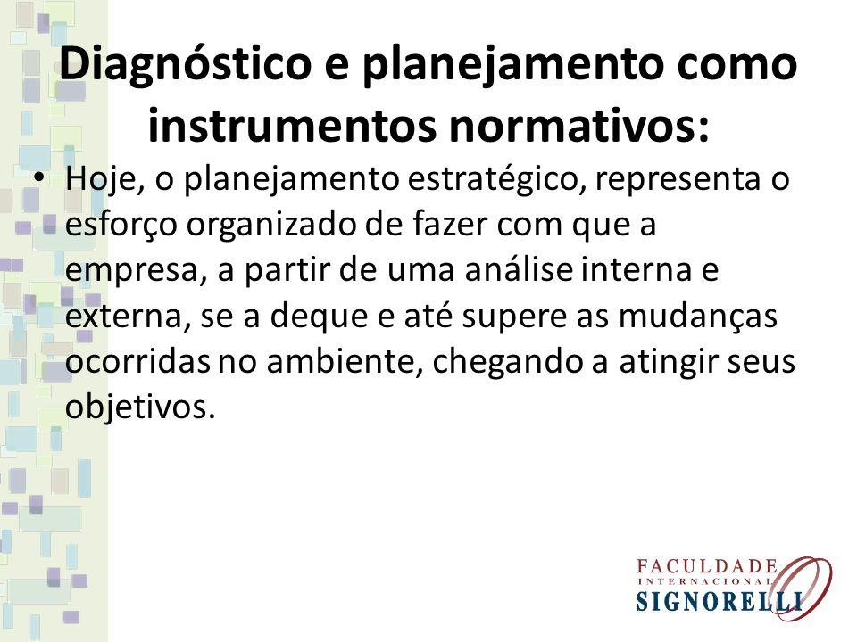 Diagnóstico e planejamento como instrumentos normativos: