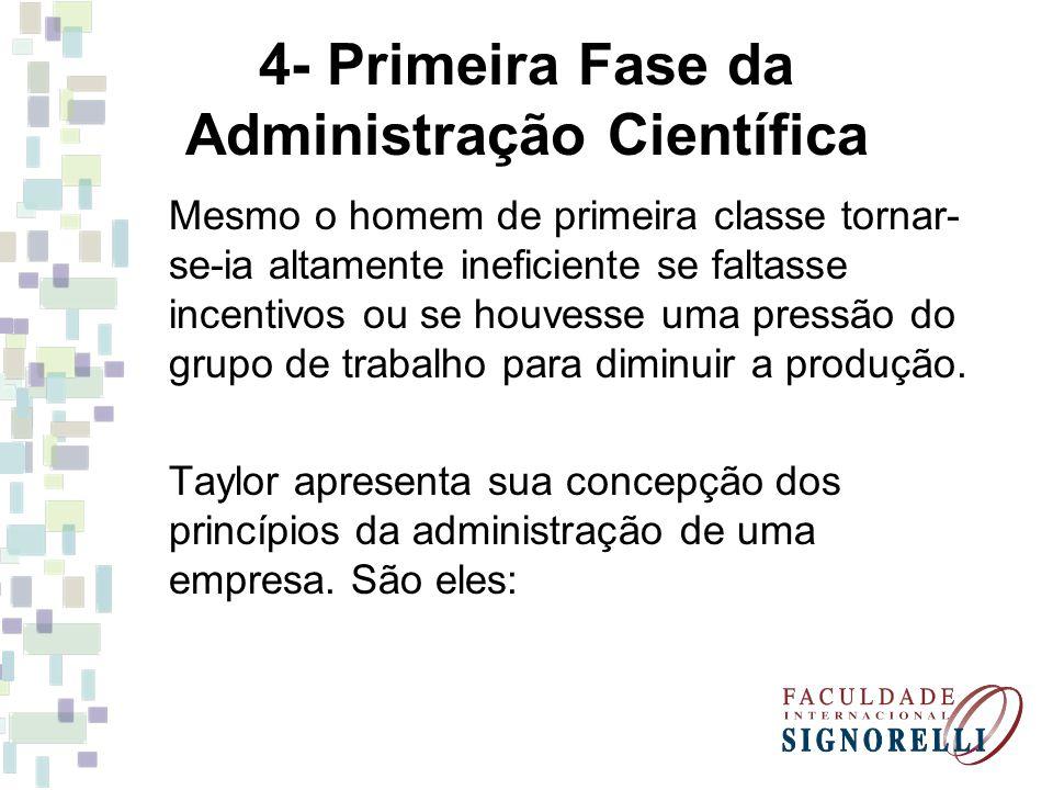 4- Primeira Fase da Administração Científica
