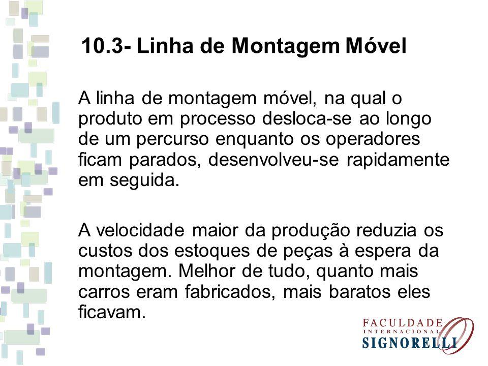 10.3- Linha de Montagem Móvel
