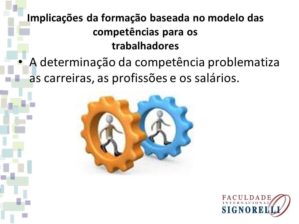 Implicações da formação baseada no modelo das competências para os trabalhadores