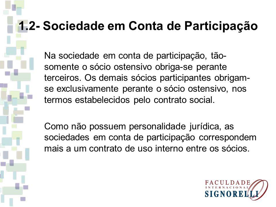 1.2- Sociedade em Conta de Participação
