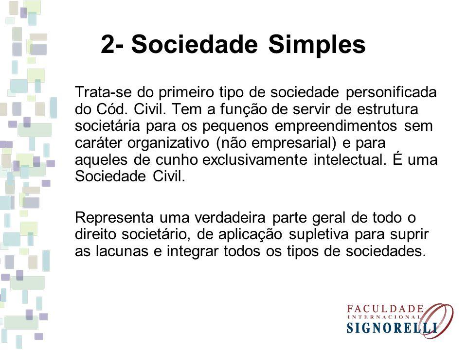 2- Sociedade Simples
