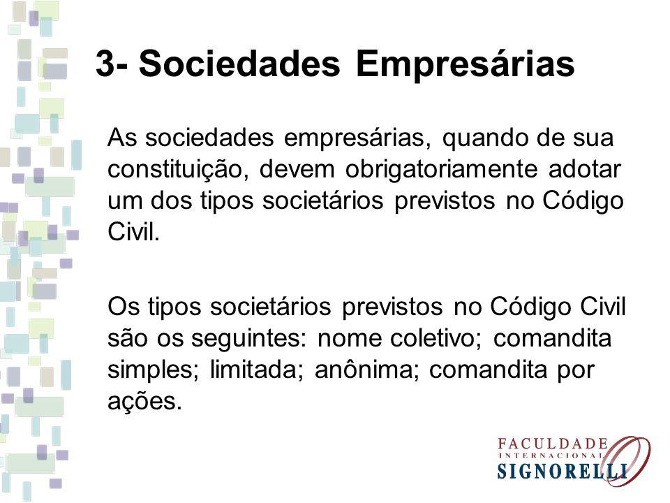 3- Sociedades Empresárias