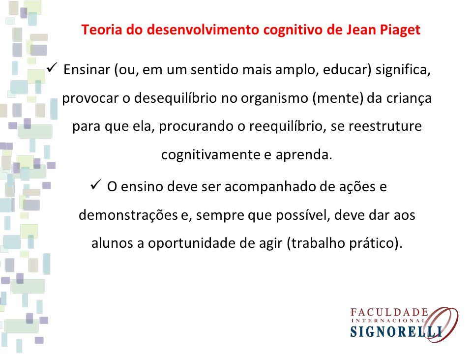 Teoria do desenvolvimento cognitivo de Jean Piaget
