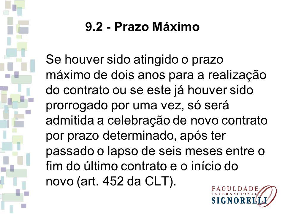 9.2 - Prazo Máximo