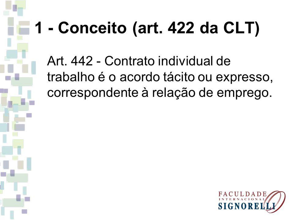 1 - Conceito (art. 422 da CLT) Art.