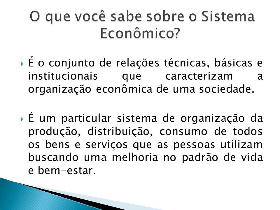 O que você sabe sobre o Sistema Econômico
