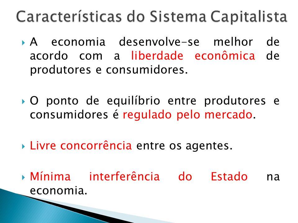 Características do Sistema Capitalista