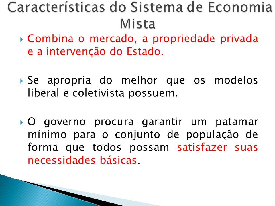 Características do Sistema de Economia Mista
