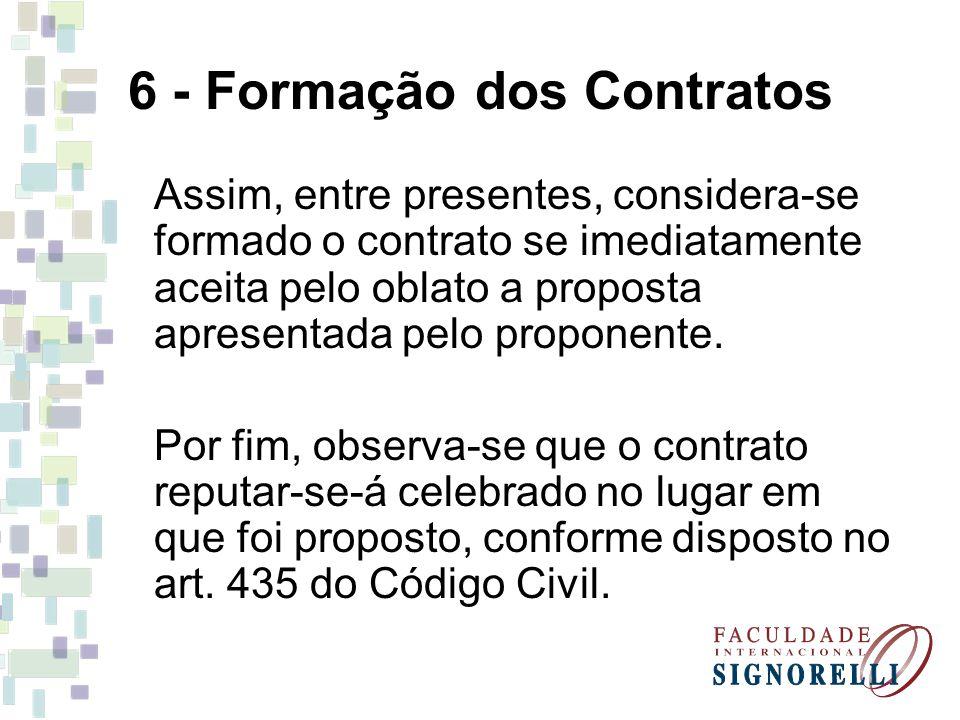 6 - Formação dos Contratos