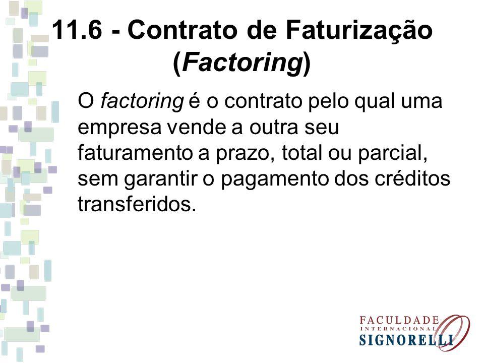11.6 - Contrato de Faturização (Factoring)