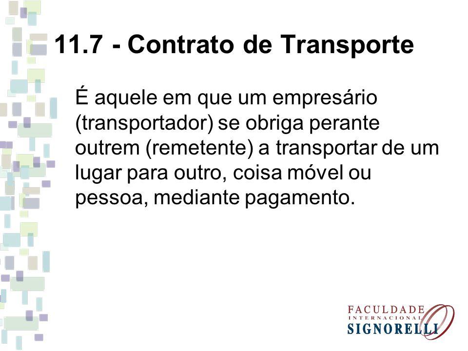 11.7 - Contrato de Transporte