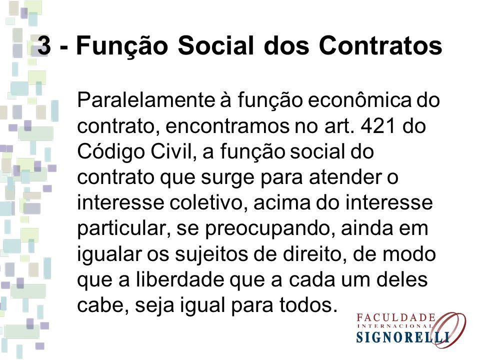 3 - Função Social dos Contratos