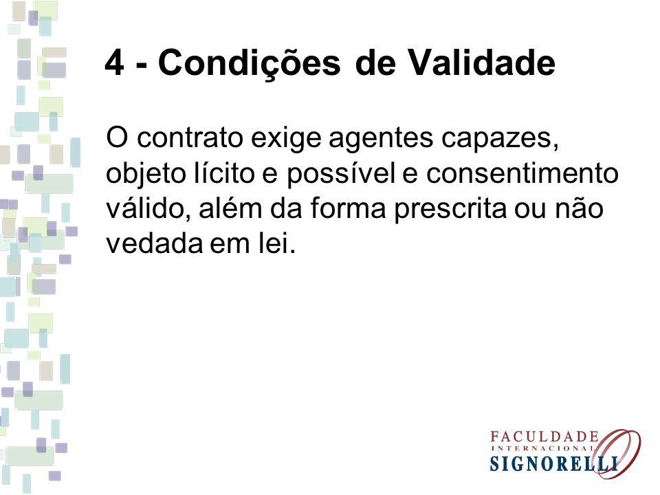 4 - Condições de Validade