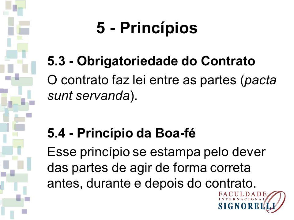 5 - Princípios 5.3 - Obrigatoriedade do Contrato