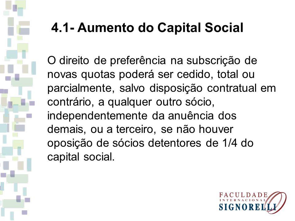 4.1- Aumento do Capital Social