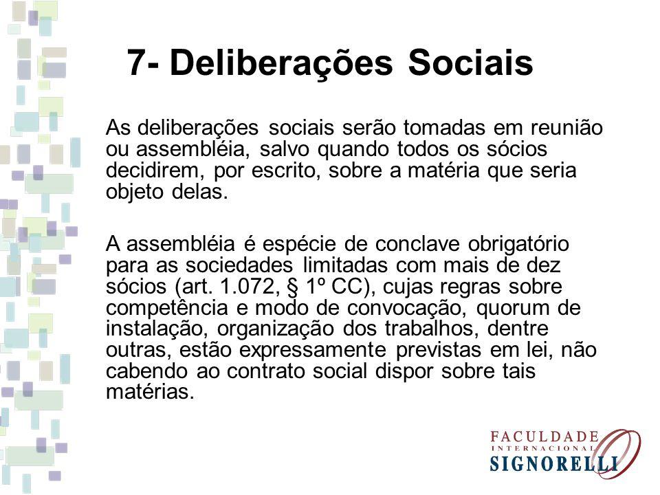 7- Deliberações Sociais