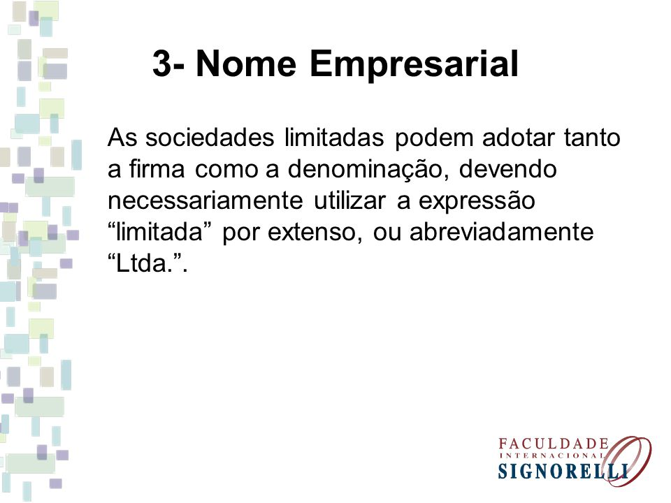 3- Nome Empresarial