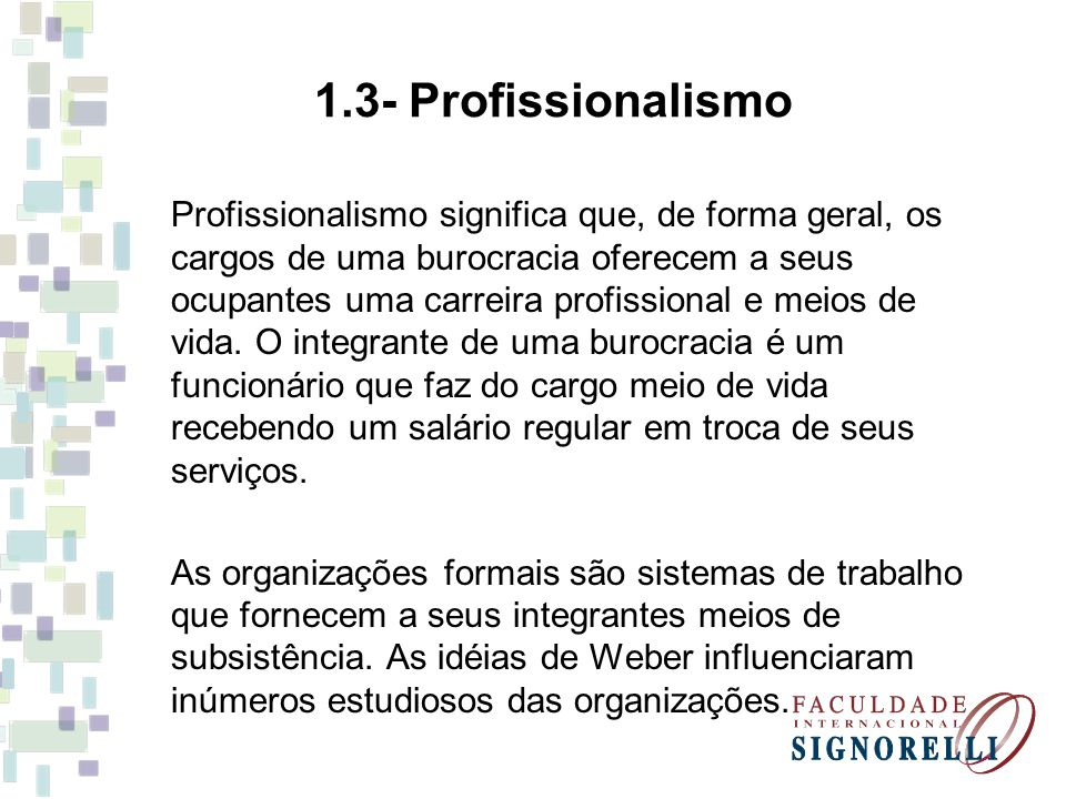 1.3- Profissionalismo