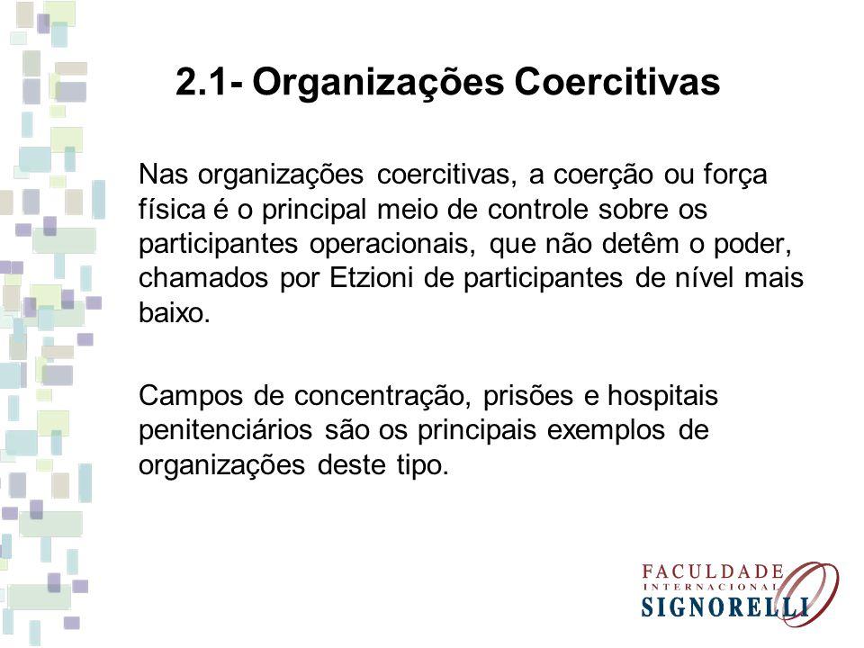 2.1- Organizações Coercitivas