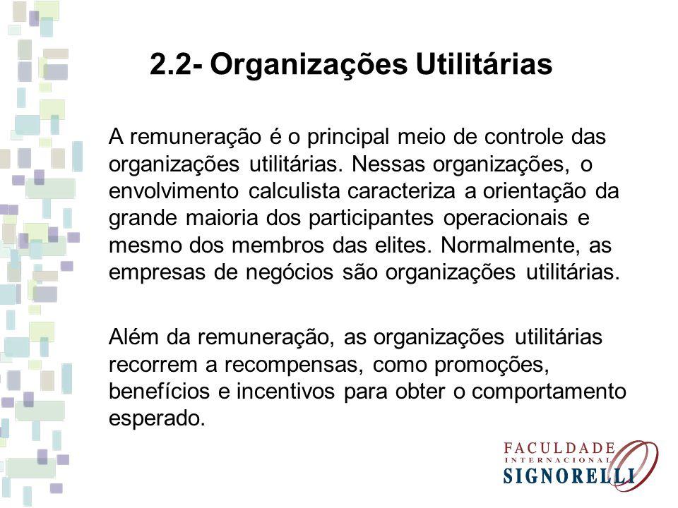 2.2- Organizações Utilitárias