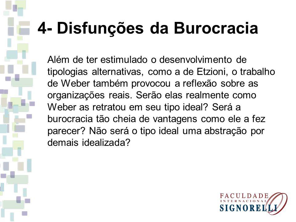 4- Disfunções da Burocracia