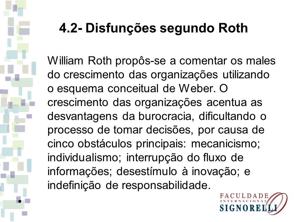 4.2- Disfunções segundo Roth