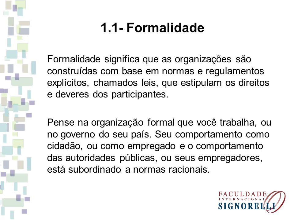 1.1- Formalidade