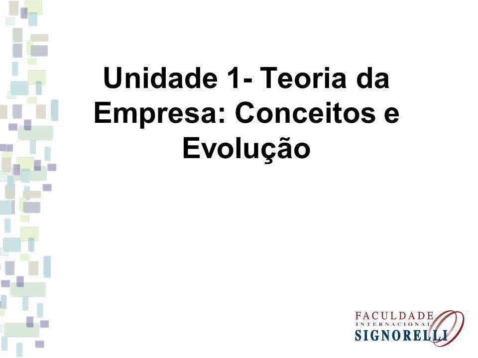 Unidade 1- Teoria da Empresa: Conceitos e Evolução