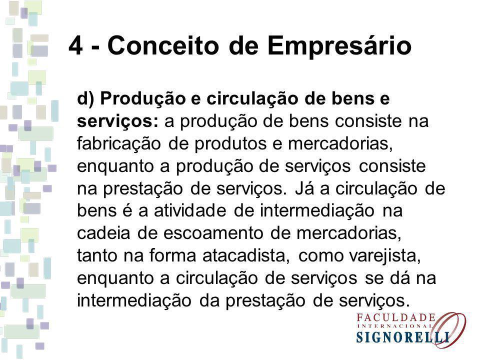 4 - Conceito de Empresário