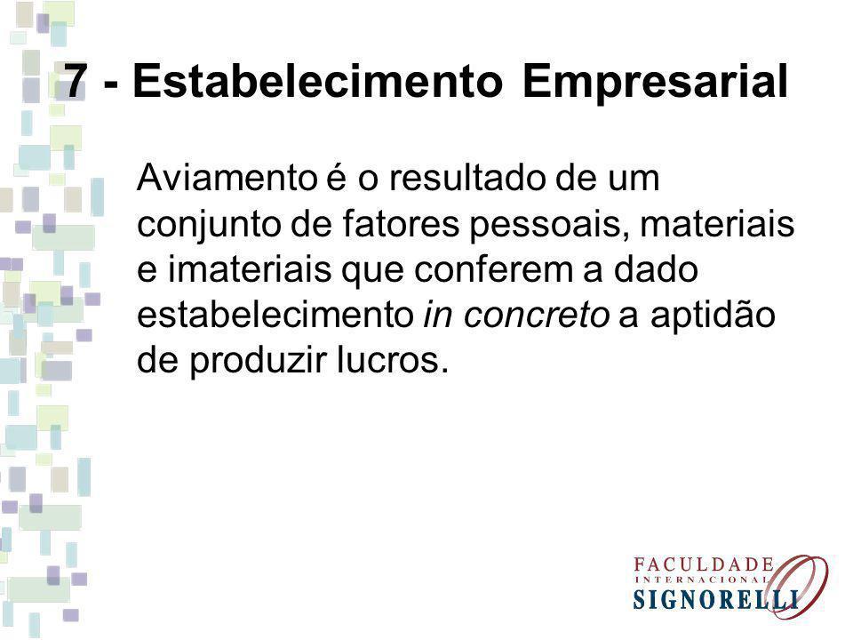 7 - Estabelecimento Empresarial