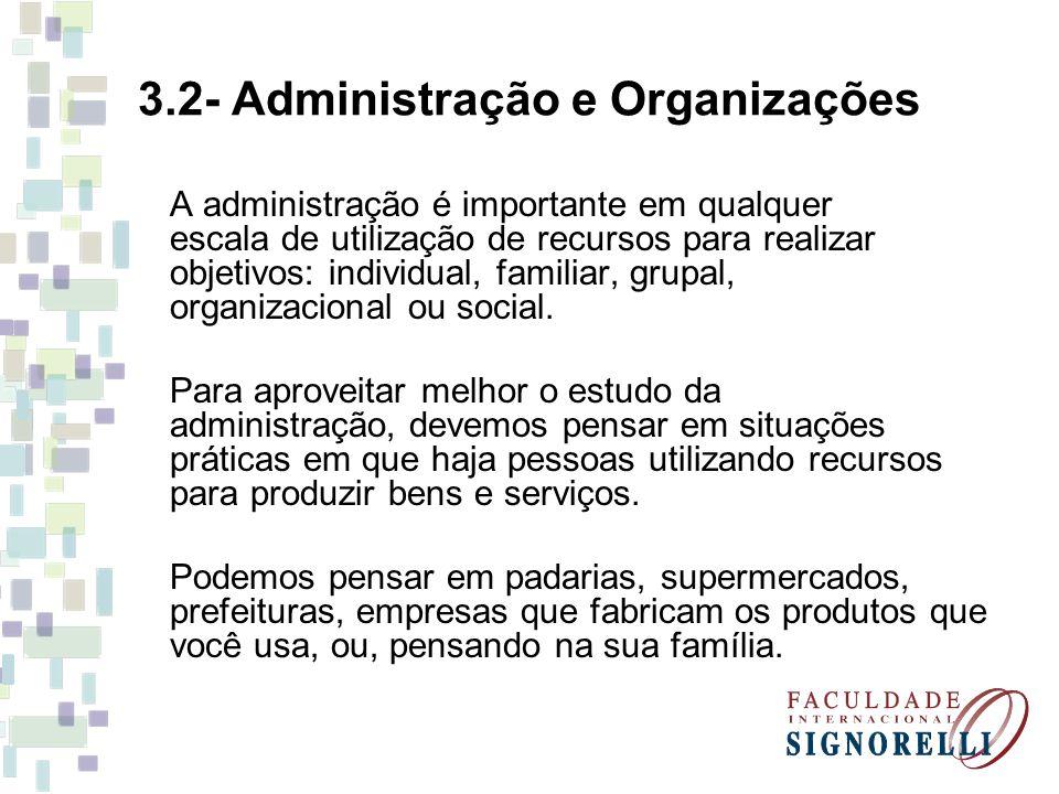 3.2- Administração e Organizações