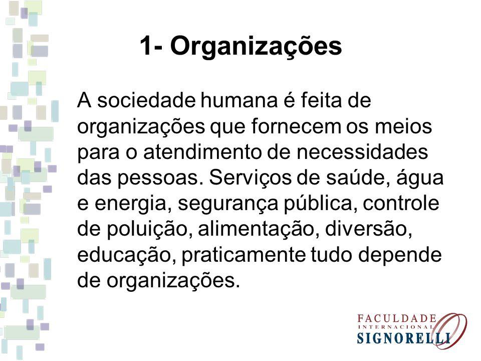 1- Organizações