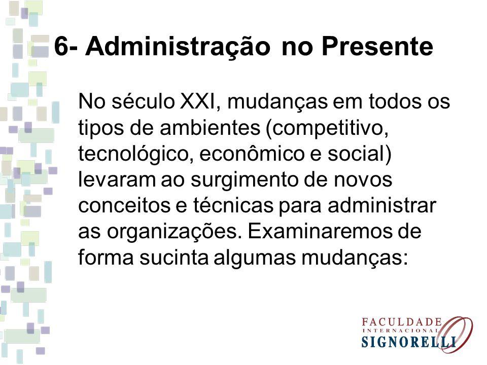 6- Administração no Presente