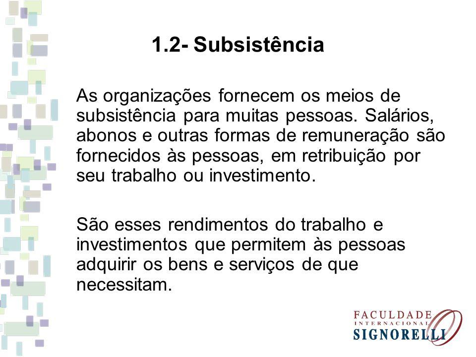 1.2- Subsistência
